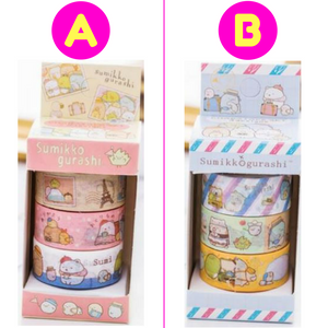 3 Pc Pk Cute Sumikko Gurashi Japanese Cartoon Washi Tape / Masking Tape
