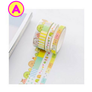 3 Pc Pk Pastel Sumikko Gurashi Japanese Cartoon Washi Tape / Masking Tape