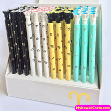 3 Pc Zodiac Sigs Diamond Style Mechanical Pencils