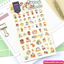 Japanese Style Hand Painted Animals Stickers