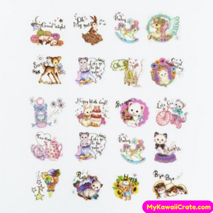 40 Pc Pk Fairy Tale Lovely Animals Stickers