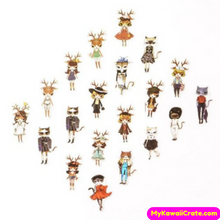 40 Pc Pack Fashionista Cat Decorative Stickers