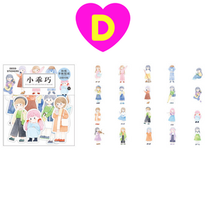 40 Pc Pack Kawaii Girls Series Decorative Stickers