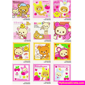 40 Pc Pk Kawaii Rilakkuma Mini Cards