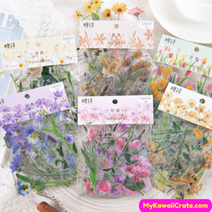 Kawaii Flowers Sticker Set