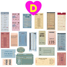 40 Pc Pack Retro Style Gilding Stamp Ticket Stickers