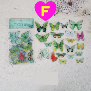 40 Pc Pack Vivid Butterfly Stickers