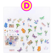 40 Pc Pack Forest Animals, Under the Sea, Travel, Flamingos, Plants Stickers