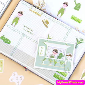 Green Plants Kid Stickers