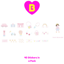 40 Pc Pack Kawaii Boy and Girl Adventures Decorative Stickers