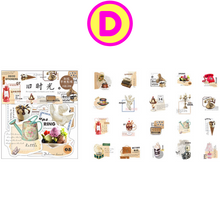 40 Pc Pack Retro Style Decorative Stickers