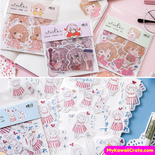 40 Pc Pack Sweetheart Girl Decorative Stickers