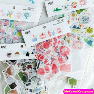 40 Pc Pk Zakka Everyday Natural Life Stickers