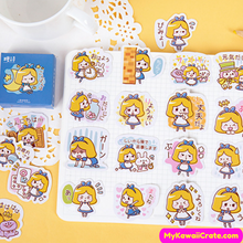 Kawaii Cute Playful Little Girl Stickers