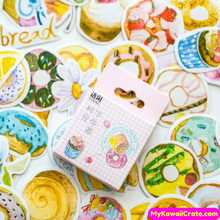 45 Pc Afternoon Tea & Sweet Treats Decorative Stickers