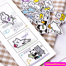 45 Pc Pk The Busy Life of Cute Animals Decorative Stickers