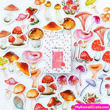 46 Pc Colorful Mushrooms Decorative Stickers