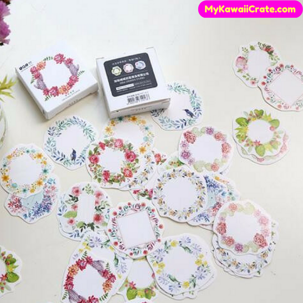 Floral Garland Wreath Mini Stickers