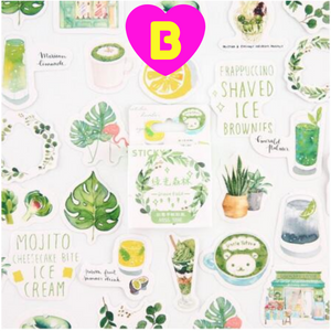 Green Plants Stickers