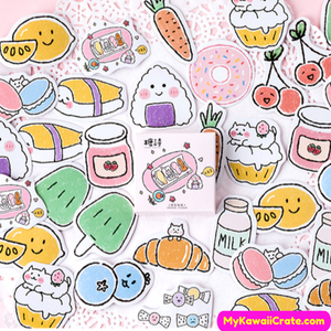 Cartoon Food Stickers