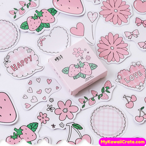 Kawaii Strawberry Flavor Stickers