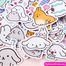 45 Pc Pk Lovely Loopy Ears Animals Decorative Stickers