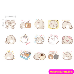 45 Pc Pack Kawaii Chubby Animals Stickers