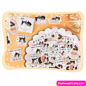 Cats Playing Stickers