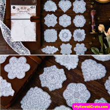 White Lace Stickers