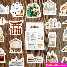 World Monuments Stickers