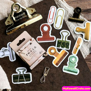 45 Pc Pk Paper Clips Bonanza Decorative Kawaii Mini Stickers