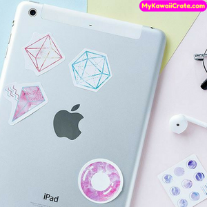 45 Pc Pk Pastel Geometry Starry Sky Decorative Stickers