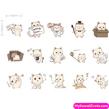 45 Pc Pk A Cat Full of Tricks Decorative Stickers