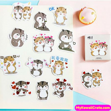 45 Pc Pk Chipmunk In Love Decorative Stickers