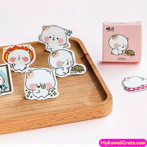 45 Pc Pk Chubby Cheeks Pet Decorative Stickers