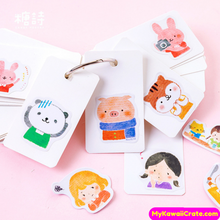 45 Pc Pk Friendly Cartoon Animals and Girl Stickers