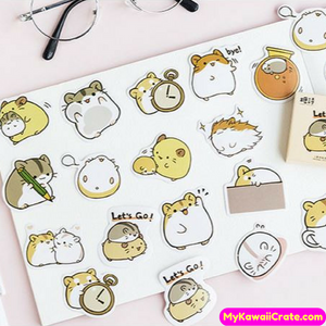 45 Pc Pack Cute Guinea Pig on the Go Decorative Stickers