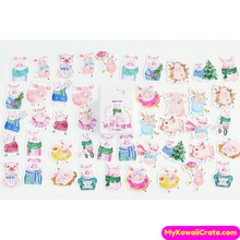45 Pc Pack Playful Mini Piglet Decorative Stickers
