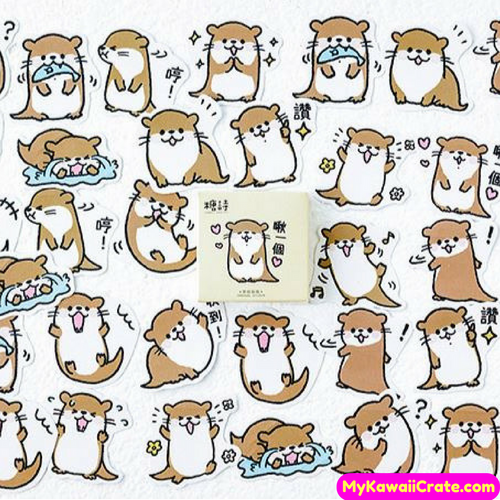 45 Pc Playful Otter Decorative Stickers / Cute Animal Stickers