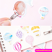 45 Pc Pk Romantic Hot Air Balloon Ride Stickers