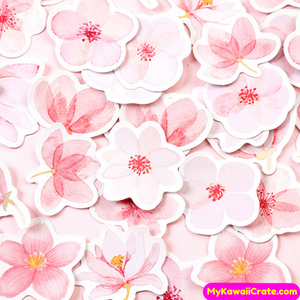 Pink Flowers Stickers