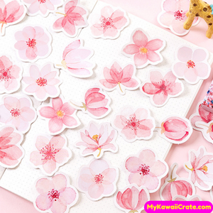Japanese Flowers Stickers