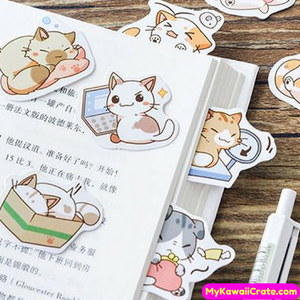 45 Pc Pk The Life of a Busy Cat Decorative Stickers