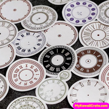 45 Pc Pk Time Flies Roman Numbers Clock Decorative Stickers