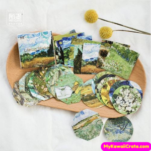 45 Pc Van Gogh Famous Paintings Style Stickers