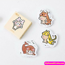 Don't Bite Me Funny Cartoon Animals Mini Stickers