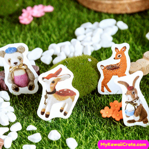 Felted Animal Stickers