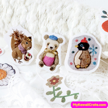 Needle Felted Animal Stickers