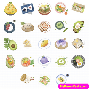 46 Pc Pack Delicious Japanese Food Stickers