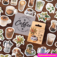 46 Pc Pack Rooftop Coffee House Decorative Stickers